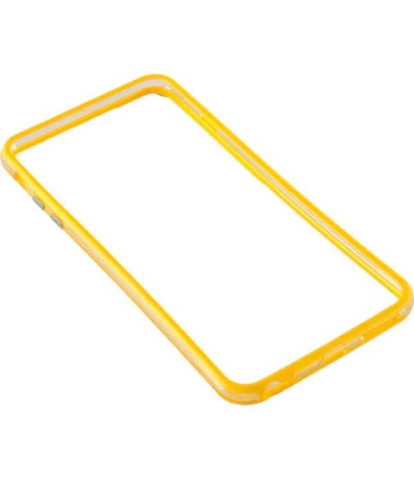Bumper silicon Serioux pentru iPhone 6 Plus, Galbe...