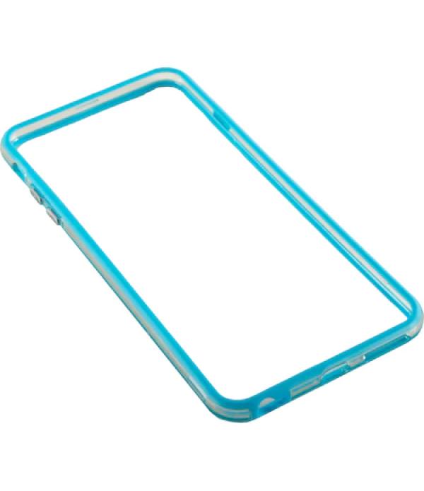 Bumper silicon Serioux pentru iPhone 6, Light Blue