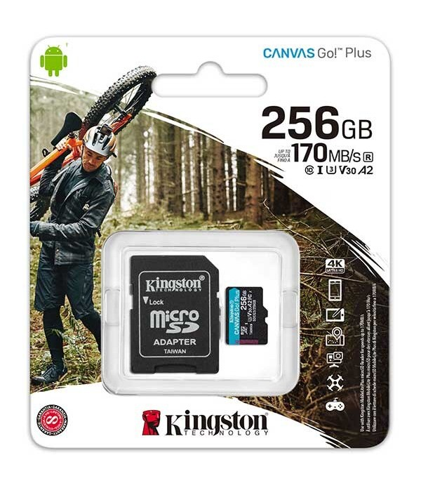 SD Card Kingston, 256GB, Canvas GO Plus, Clasa 10 ...
