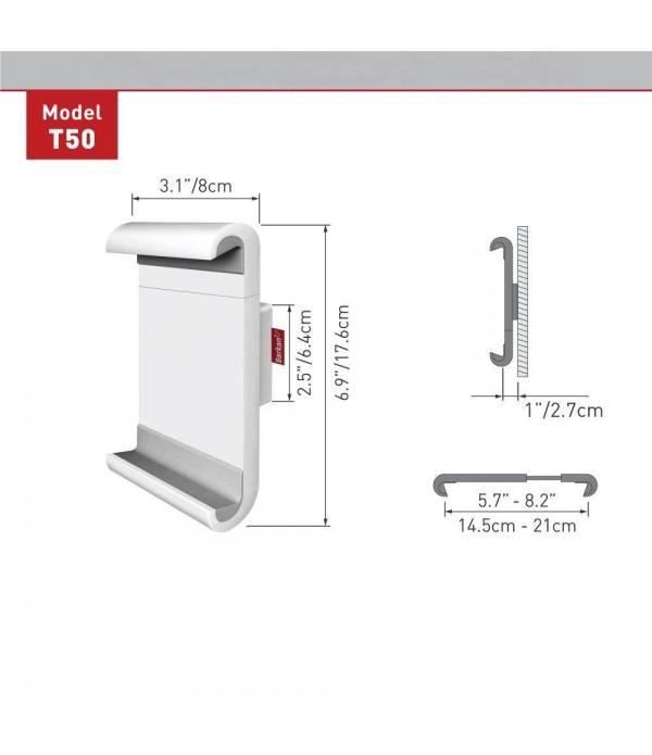 "Suport fix de perete pentru tablete Barkan T50 alb, compatibil cu 7"" - 12""/ 17.8 cm - 30.5, 360°"
