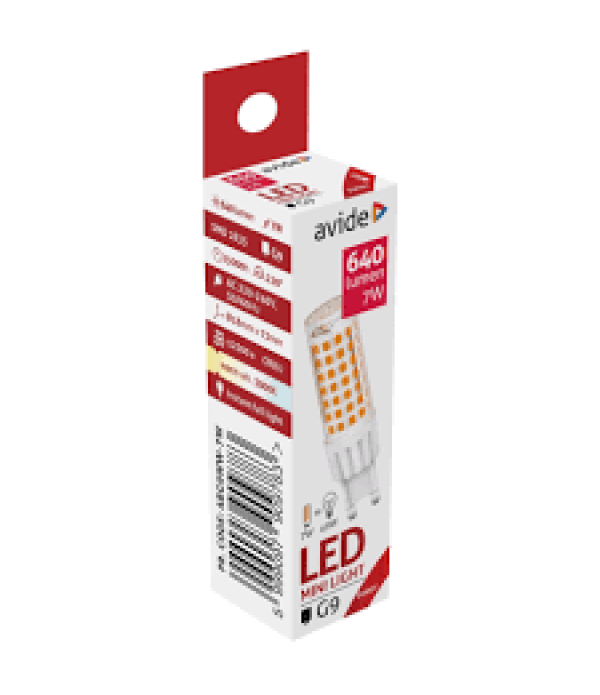 Bec Avide LED G9 7W 3000K lumina calda